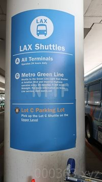 LAX City Bus Center看板