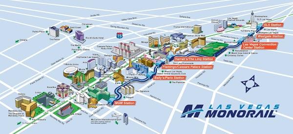モノレールのルートマップ