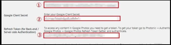 クライアント IDとクライアント シークレットの入力 クライアント IDとクライアント シークレットの入力