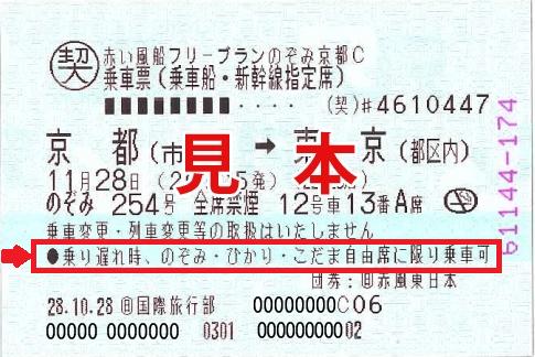 JR切符見本