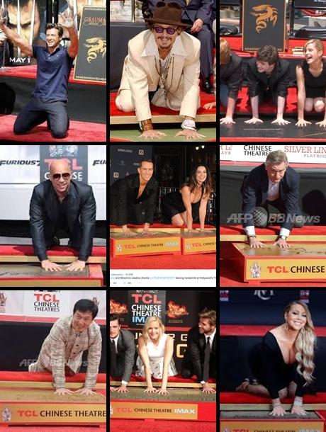 手形を付けた有名人達