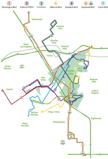 CulverCityBus路線図