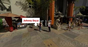 ジョニーデップ(Johnny Depp)の手形・足形・サインの場所、位置