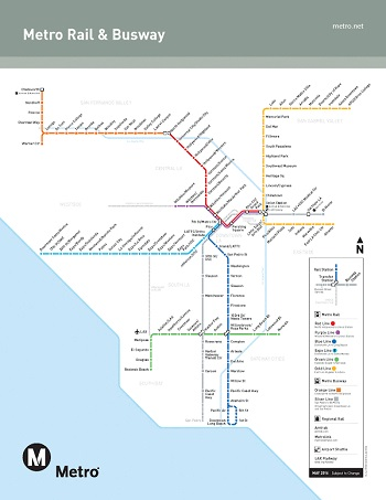 Metro Rail路線図